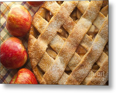 Apple Pie With Lattice Crust Metal Print by Diane Diederich