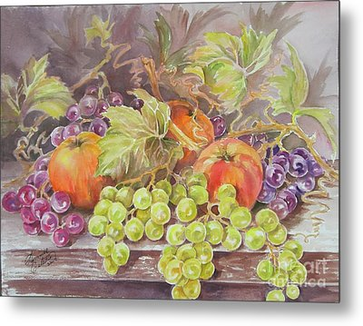 Apples And Grapes Metal Print by Summer Celeste