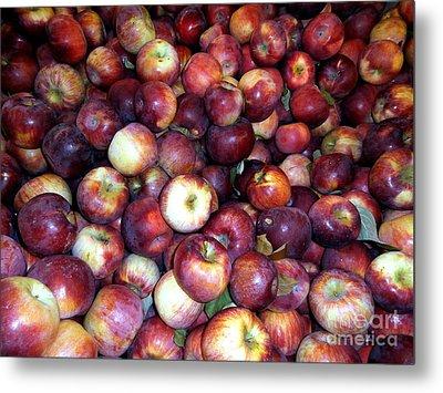Apples Metal Print by Janine Riley