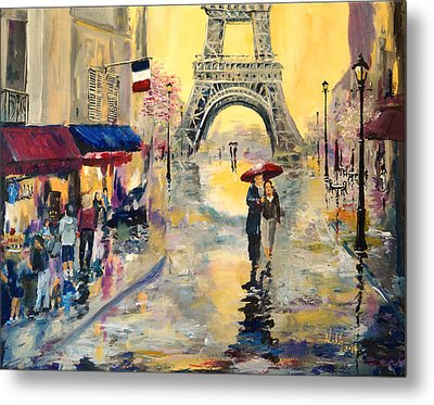 April In Paris Metal Print by Alan Lakin