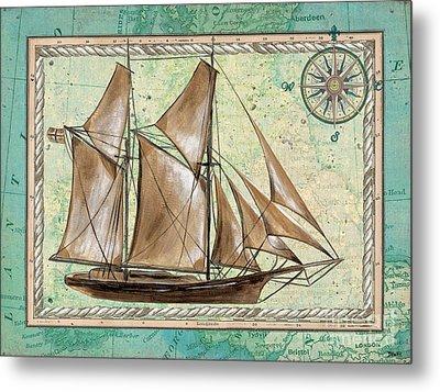 Aqua Maritime 2 Metal Print by Debbie DeWitt