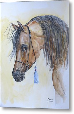 Arabian Head Metal Print by Janina  Suuronen
