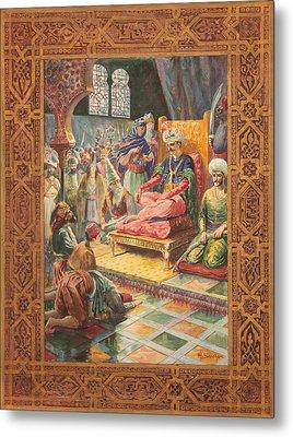 Arabian Nights H J Sandham Metal Print by Paul Ashby Antique Paintings
