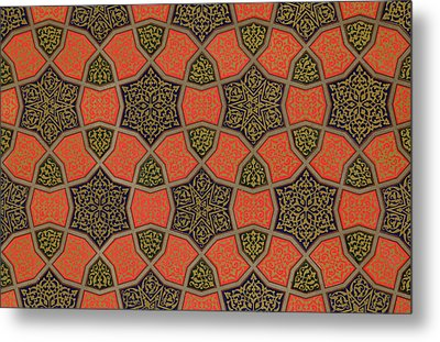 Arabic Decorative Design Metal Print by Emile Prisse dAvennes