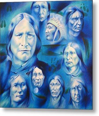 Arapaho Leaders Metal Print by Robert Martinez