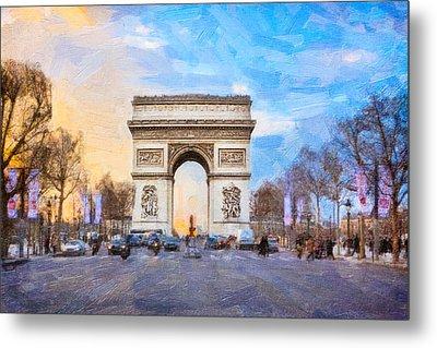 Arc De Triomphe - A Paris Landmark Metal Print by Mark E Tisdale