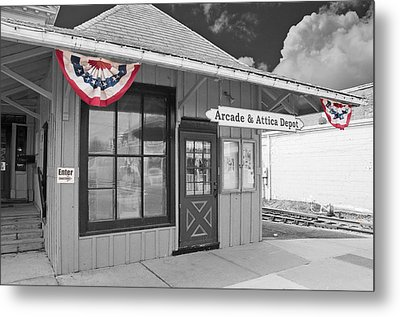 Arcade And Attica Depot Metal Print by Guy Whiteley