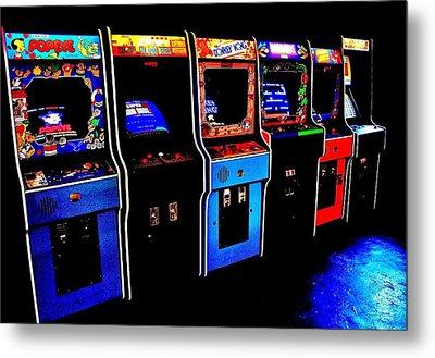 Arcade Forever Nintendo Metal Print by Benjamin Yeager