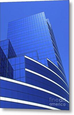 Architectural Blues Metal Print by Ann Horn