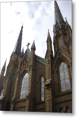 architecture churches Gothic Spires Metal Print by Ann Powell