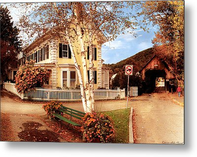 Architecture - Woodstock Vt - Where I Live Metal Print by Mike Savad