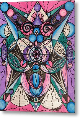 Arcturian Healing Lattice  Metal Print by Teal Eye  Print Store