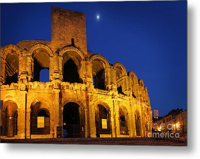 Arles Roman Arena Metal Print by Inge Johnsson