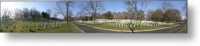 Arlington National Cemetery Panorama 2 Metal Print by Metro DC Photography