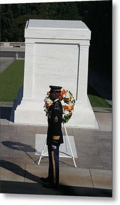 Arlington National Cemetery - Tomb Of The Unknown Soldier - 121212 Metal Print by DC Photographer