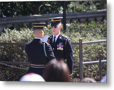 Arlington National Cemetery - Tomb Of The Unknown Soldier - 121221 Metal Print by DC Photographer
