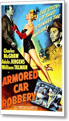 Armored Car Robbery, Us Poster Metal Print by Everett