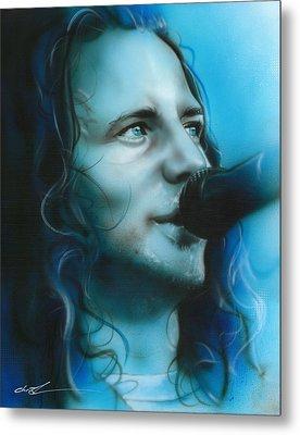 Eddie Vedder - ' Arms Raised In A V ' Metal Print by Christian Chapman Art