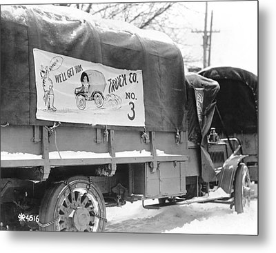 Army Vehicle Signage Metal Print by Underwood Archives