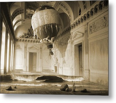 Arrested Expansion Or Cardiac Arrest Metal Print by George Grie