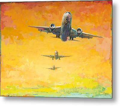 Arrivals #4 Metal Print by David Palmer