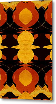 Art Deco Two - Abstract Art Metal Print by Ann Powell