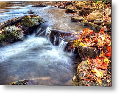 Art For Crohn's Hdr Fall Creek Metal Print by Tim Buisman