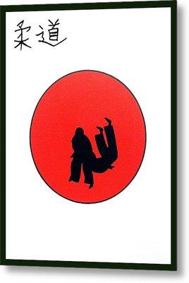 Art Of Judo Print Metal Print by Gordon Lavender