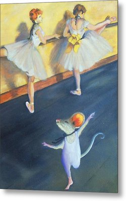 Artemouse With Dancers At The Barre Metal Print by Debbie Patrick
