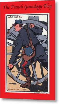 Artilleur 1915 With Fgb Border Metal Print by A Morddel