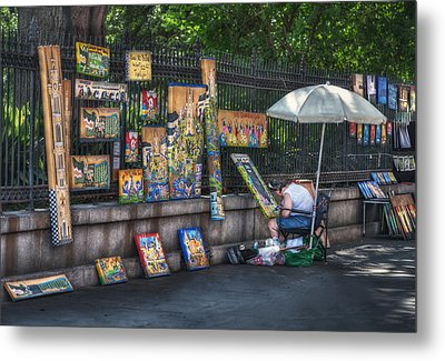 Artist At Work Metal Print by Brenda Bryant
