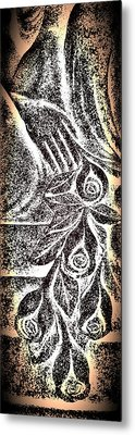 Artistic Hand And Flowers Metal Print by Pat Exum