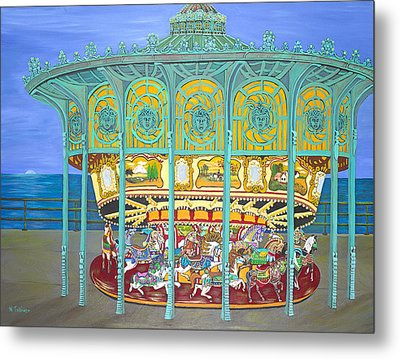Asbury Park Yesteryear Metal Print by Norma Tolliver