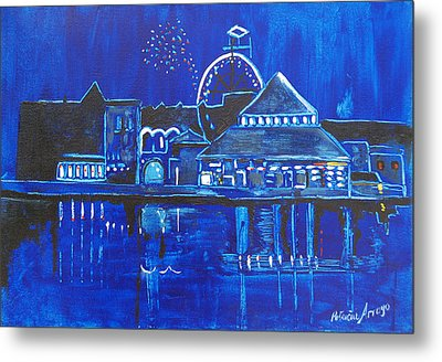 Asbury Park's Night Memories Metal Print by Patricia Arroyo