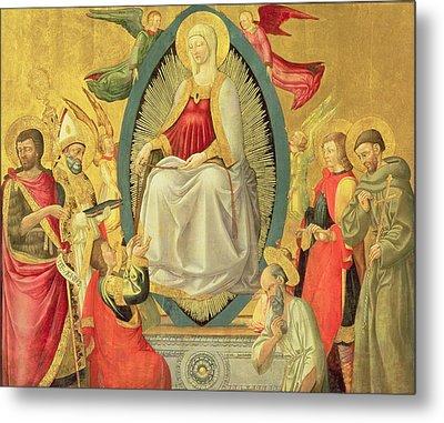 Ascension Of The Virgin, 1465 Metal Print by Neri di Bicci