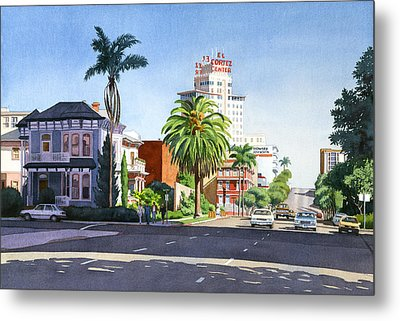 Ash And Second Avenue In San Diego Metal Print by Mary Helmreich