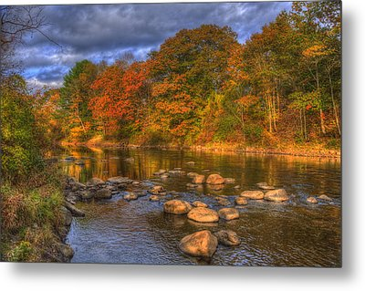 Ashuelot River In Autumn - New Hampshire Metal Print by Joann Vitali