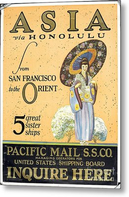 Asia Via Honolulu Metal Print by Celestial Images