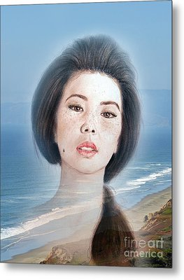Asian Beauty Fade To Ocean Photograph Metal Print by Jim Fitzpatrick