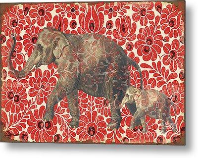 Asian Elephant-jp2185 Metal Print by Jean Plout
