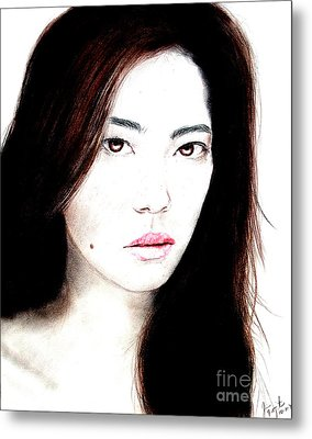 Asian Model II Metal Print by Jim Fitzpatrick