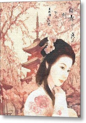 Asian Rose Metal Print by Mo T