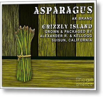 Asparagus Farm Metal Print by Marvin Blaine