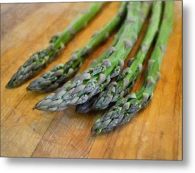 Asparagus Metal Print by Michelle Calkins