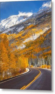 Aspen Highway Metal Print by Darren  White