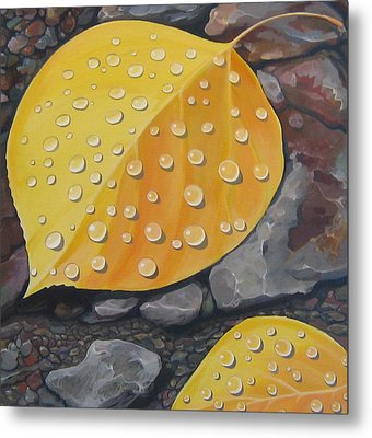 Aspen Rain Metal Print by Hunter Jay