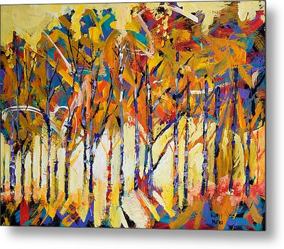 Aspen Trees Metal Print by Ron and Metro