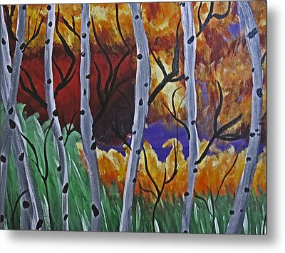 Aspens And Wine Metal Print by Tammy Sutherland