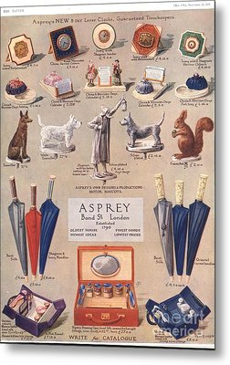 Asprey 1925 1920s Uk Asprey Gifts Metal Print by The Advertising Archives
