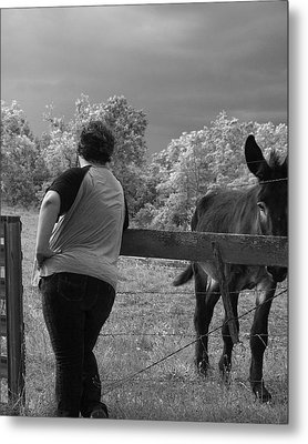 Ass Metal Print by Mary Ely